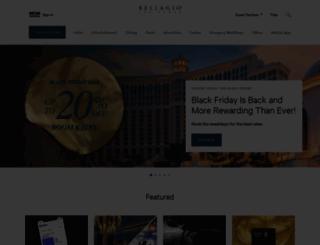 bellagio.com screenshot