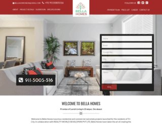 bellahomes.co.in screenshot