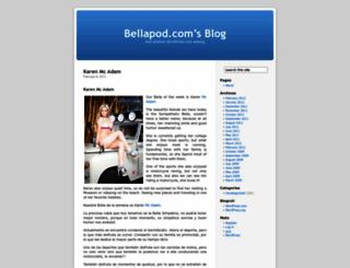 bellapod.wordpress.com screenshot