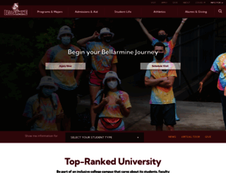 bellarmine.edu screenshot