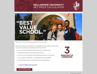 bellarmine.studentaidcalculator.com screenshot
