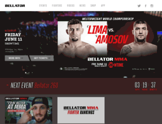 bellator.spike.com screenshot