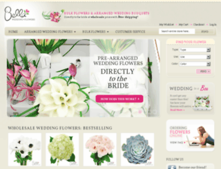bellaweddingflowers.com screenshot