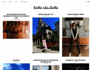 bellechantelle.com screenshot
