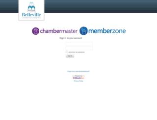 bellevillechamber.chambermaster.com screenshot