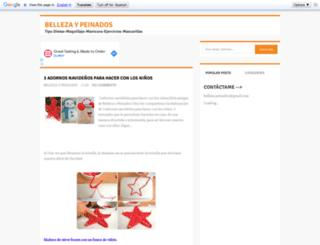 bellezaypeinados.com screenshot