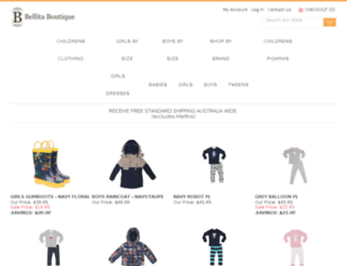 bellitaboutique.com.au screenshot