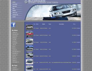 bellsautosales.net screenshot