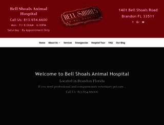 bellshoalsanimalhospitalbrandon.com screenshot