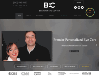 belmonteyecenter.com screenshot