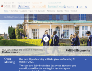 belmontschool.com screenshot