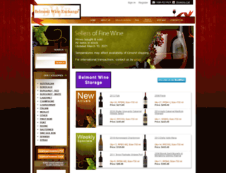 belmontwine.com screenshot