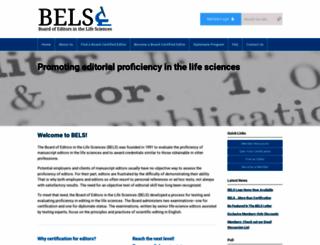 bels.org screenshot