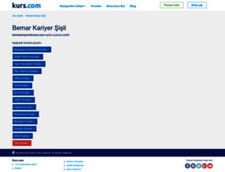 bemarkariyersisli.kurs.com screenshot