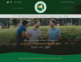 bemidjigolf.com screenshot