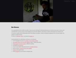 ben.klemens.org screenshot