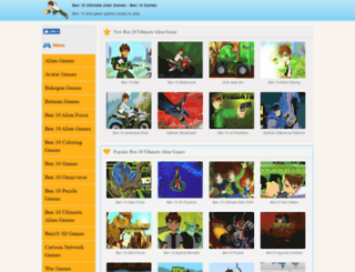 ben10ultimatealiengames.com screenshot
