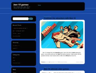 ben10ultimatealiengames.wordpress.com screenshot