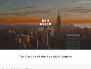 benaxler.net screenshot