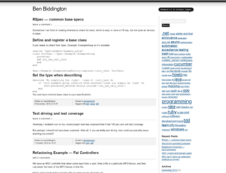 benbiddington.wordpress.com screenshot