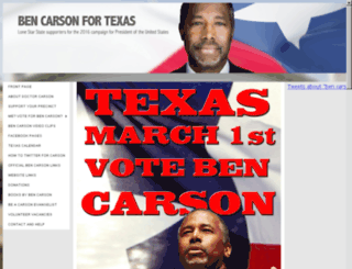 bencarsonfortexas.org screenshot