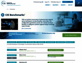 benchmarks.cisecurity.org screenshot
