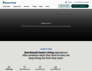 benchmarkseniorliving.com screenshot