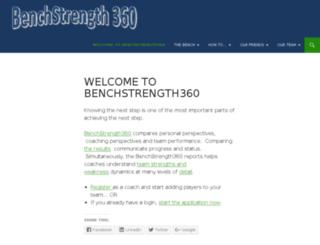 benchstrength360.com screenshot