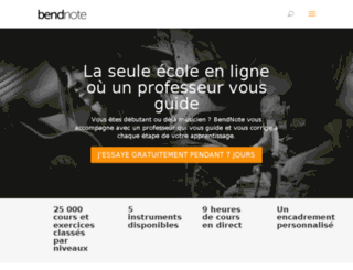 bendnote.com screenshot