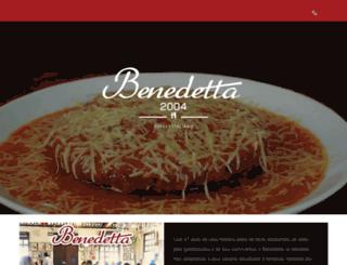 benedetta.com.br screenshot