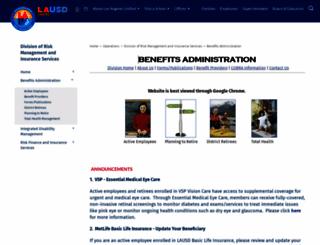 benefits.lausd.net screenshot