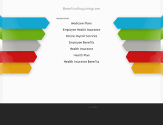 benefitsofkayaking.com screenshot