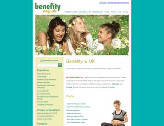 benefity.org.uk screenshot