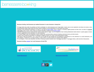 benesserebooking.it screenshot