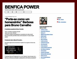 benficapower.wordpress.com screenshot