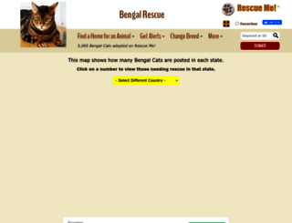 bengal.rescueme.org screenshot