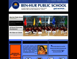 benhurschool.com screenshot