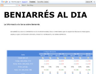 beniarresaldia.blogspot.com screenshot