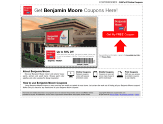 benjaminmoore.couponrocker.com screenshot