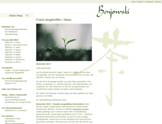 benjowskitea.de screenshot