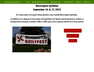 benningtonquiltfest.com screenshot