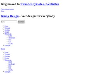 bennydesign.bplaced.net screenshot