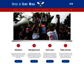 bennywenda.org screenshot