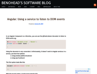 benohead.com screenshot