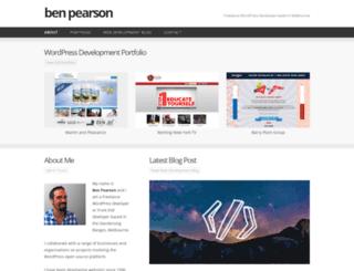benpearson.com.au screenshot