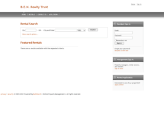 benrealtytrust.managebuilding.com screenshot