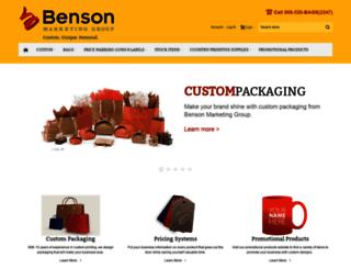 bensonmarketinggroup.com screenshot