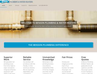 bensonplumbingoc.com screenshot