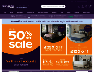 bensonsforbeds.co.uk screenshot