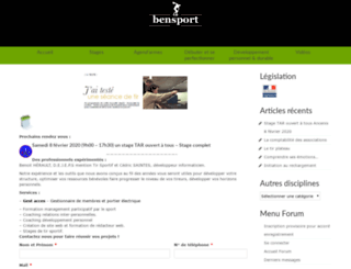bensport.fr screenshot